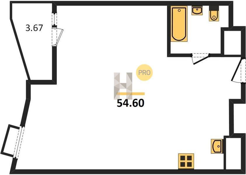 1-комнатная квартира в ЖК Резиденции архитекторов
