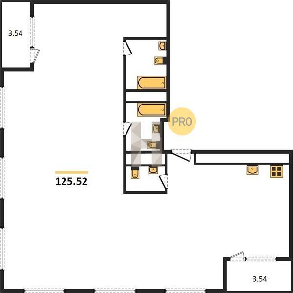 4-комнатная квартира в ЖК Прайм Тайм