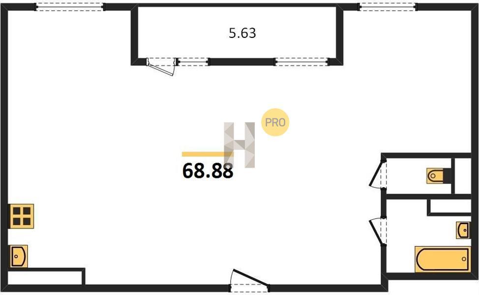 2-комнатная квартира в ЖК Михайлова 31