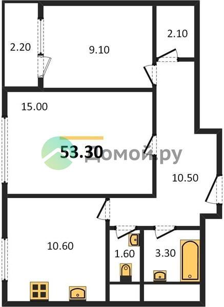 2-комнатная квартира в ЖК Летний Сад