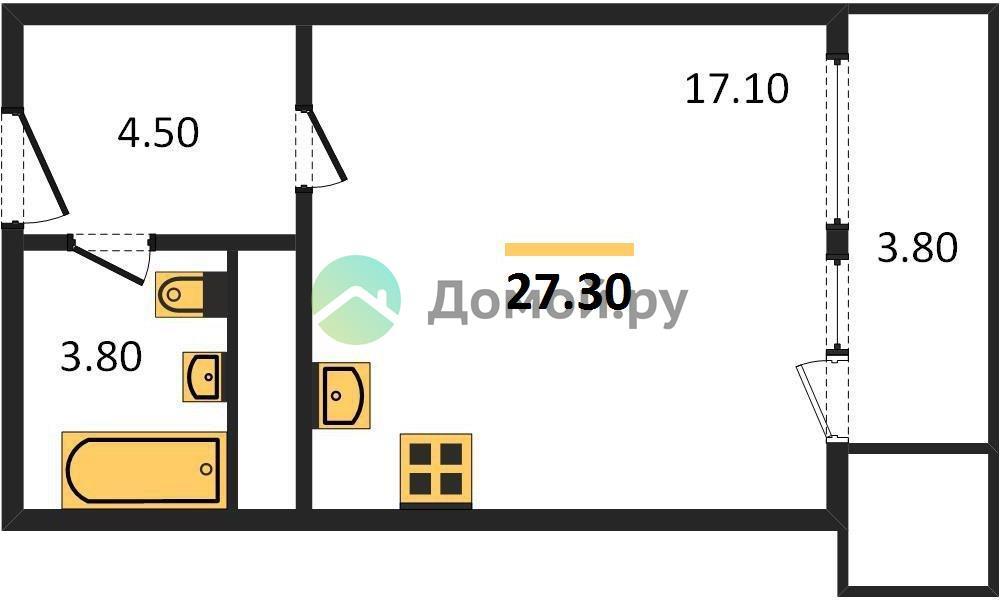 студия квартира в ЖК Спутник в Строгино