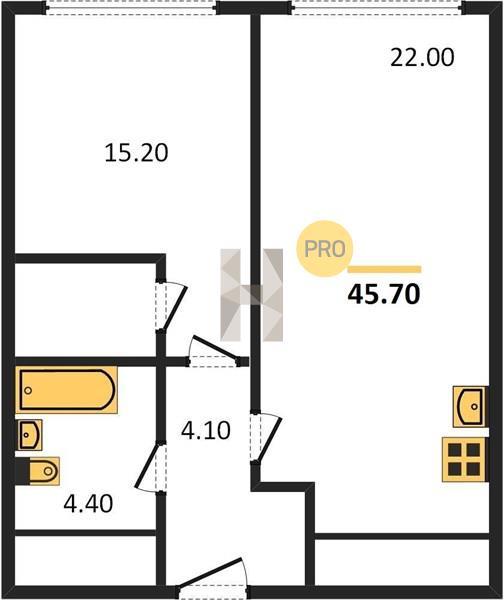 1-комнатная квартира в ЖК Фили Сити