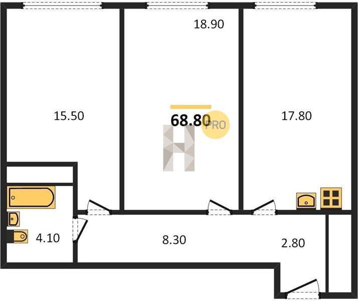 2-комнатная квартира в ЖК Фили Сити