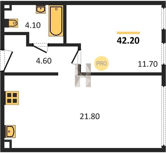 1-комнатная квартира в ЖК Скандинавия