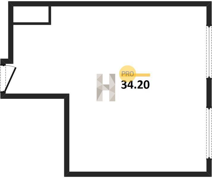1-комнатная квартира в ЖК Метрополия